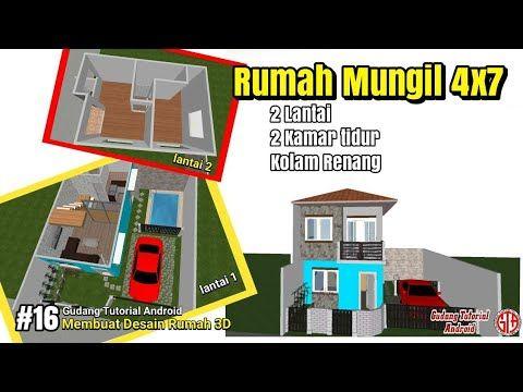 Desain 3d Rumah Super Mungil Minimalis 2 Lantai Ukuran 4x7 Dilahan 8x7 Ada Kolam Renangnya 16 Youtube Lantai Kolam Renang Desain