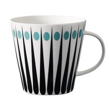 Amanda Tea Cup White Aqua now featured on Fab.