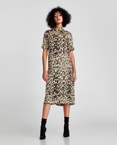 View Animal Dress Ireland Dresses Print All WomanZara sQCdhxBtr