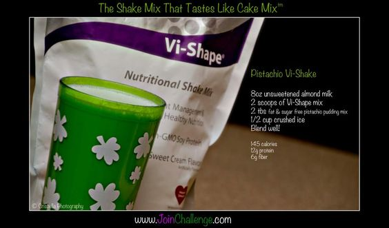 Pistachio Vi-Shake..my friend shannon is doing this and she said its great. I wanna start it