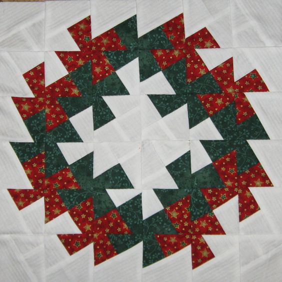 Free Twisted Pinwheel Quilt Pattern : 2012.12. Christmas Wreath with Lil Twister Quilt - Made by me ? Pinterest Wreaths ...