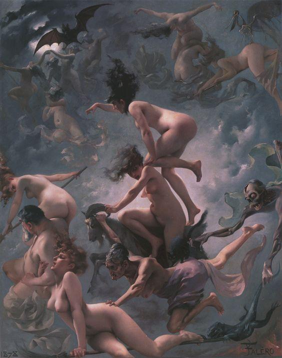 Brujas yendo al Sabbath (1878) por Luis Ricardo Falero