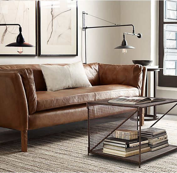 Sorensen Leather Sofa From Restoration Hardware, Seen On Apartment Therapy,  Best Modern Leather Sofas