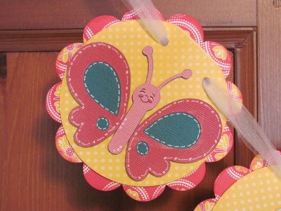 "create a critter butterfly | The tags were cut at 5"" and the letters were cut at 3""."