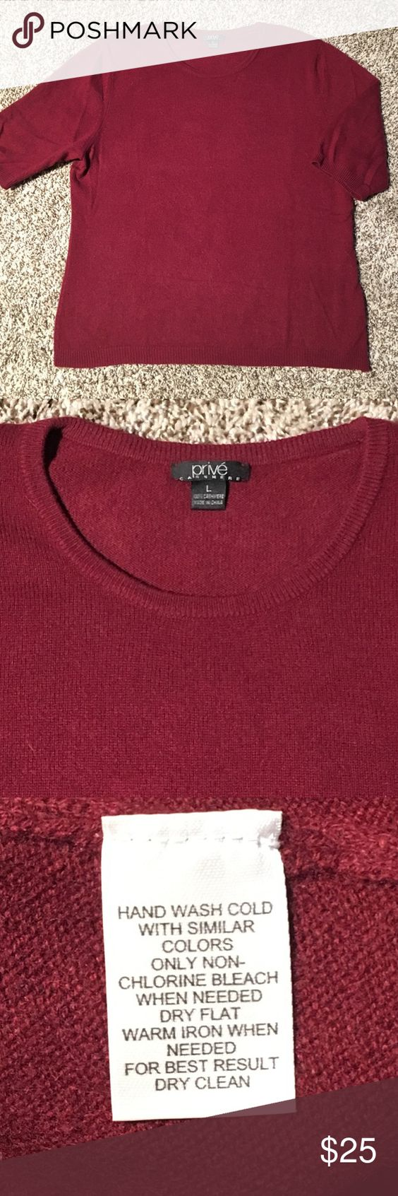 Prive 100% cashmere sweater Beautiful Prive Cashmere 100% cashmere ...
