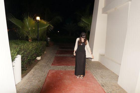 Cape Verde: Black tencel wrap worn as a skirt