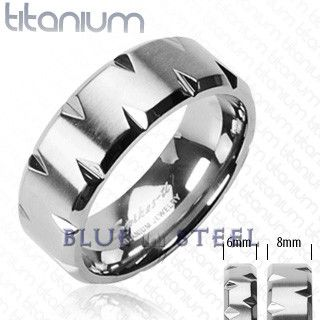PIN IT TO WIN IT! Faceted Edge: The Faceted Edges ring offers a unique industrial modern style with deep Diamond cut Solid Titanium.The center of this flat broad band styled ring is cut at the edges of the ring giving a bold and edgy look . With it's distinctive contemporary design the Faceted Edges ring is the perfect thing to add a little modern style to your everyday look. $69.99  www.buybluesteel.com