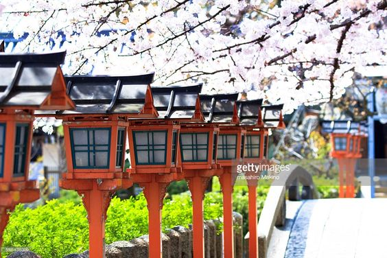 Stock Photo : Japanese Wooden Lanterns