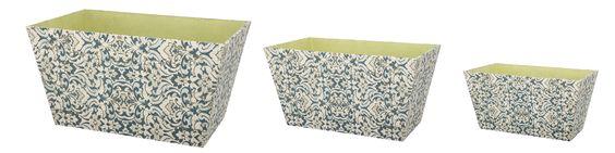 3 Piece Rectangular Container Set
