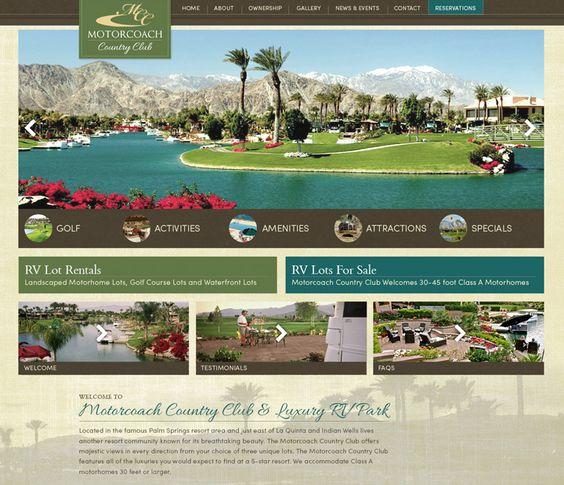 Motorcoach Country Club - Big Rig Media RV Resort Website Design
