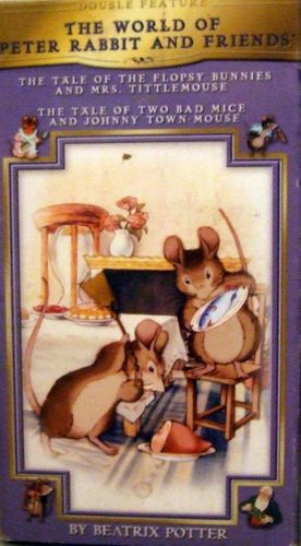 World of Peter Rabbit Double Feature VHS Beatrix Potter Bunnies and Bad Mice