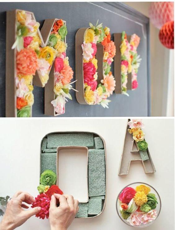3 ideas para decorar Letras con Flores - All Lovely Party