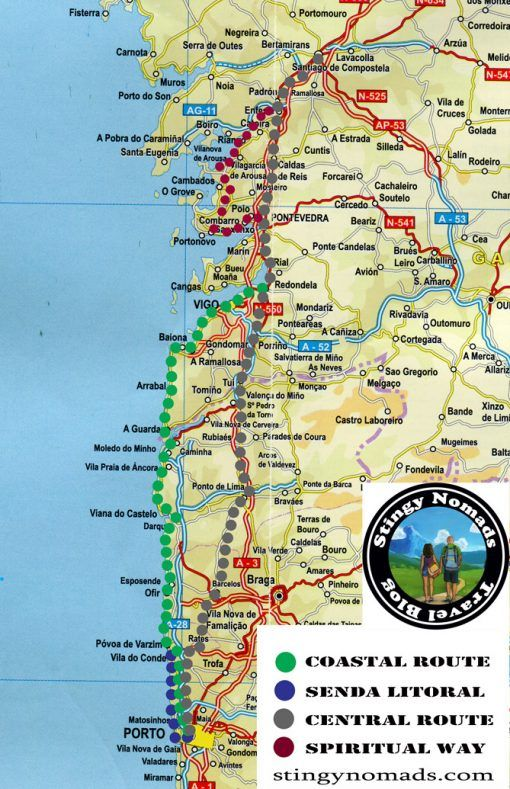The Portuguese Camino Detailed Guide Central Route Stages