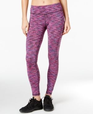 Ideology Space-Dyed Training Leggings, Only at Macy's - Pink XXL