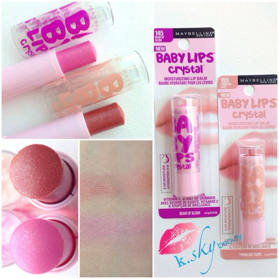 Maybelline Baby Lips Crystal collection! Swatches of Beam ...