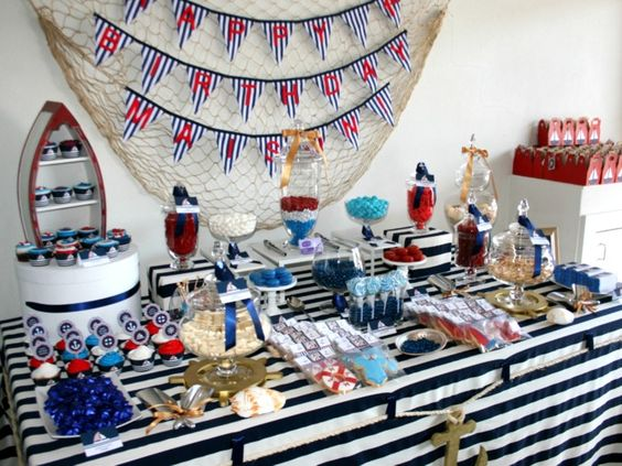 Little Big Company | The Blog: A Nautical Inspired Party by Sweetest Thing - Candy Buffet and Event Styling | http://littlebigco.blogspot.com.au/2012/11/a-nautical-inspired-party-by-sweetest.html#