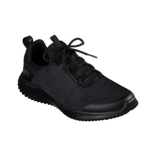 NEU SKECHERS Damen Slip-On Fitness Sneakers Slipper Loafer GO WALK SPORT Schwarz