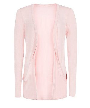 Pink (Pink) Pink Drop Pocket Cardigan  | 303676170 | New Look
