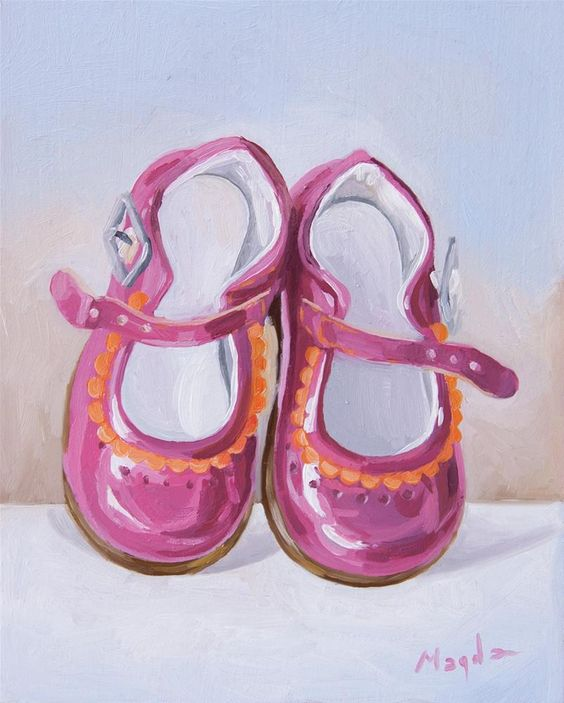 "Daily Paintworks - ""Princess Shoes"" by Magdalena Stavila"