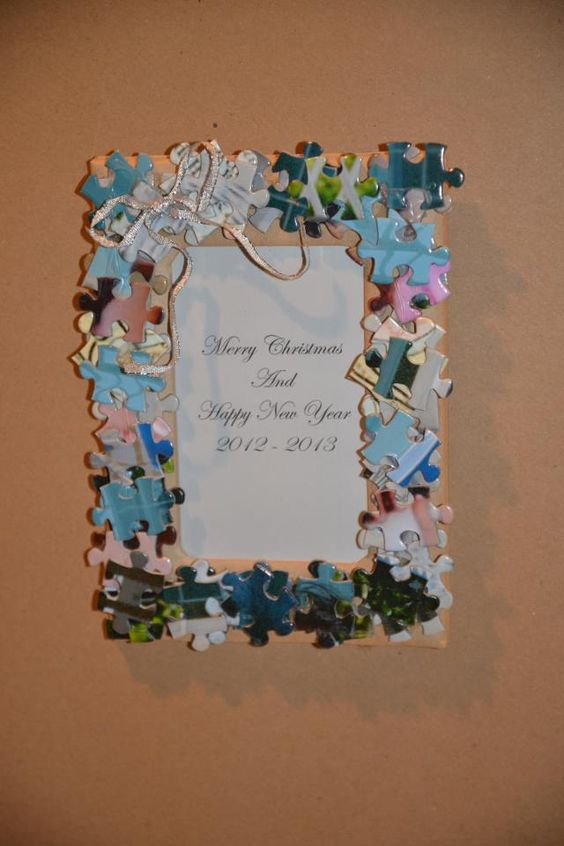 puzzle pieces what to do with an old puzzle make a picture frame