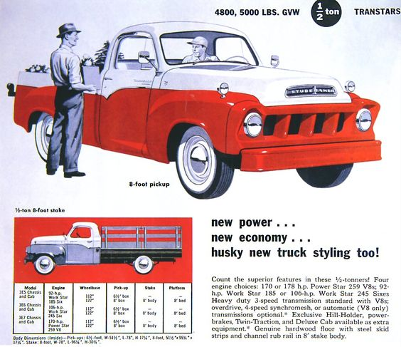 1957 studebaker pickup   1957 Studebaker Truck Ad-01