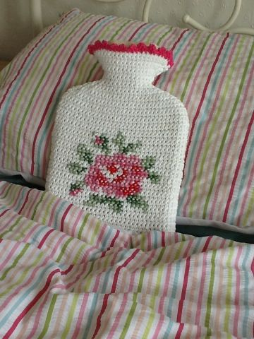 Rose hot water bottle cover