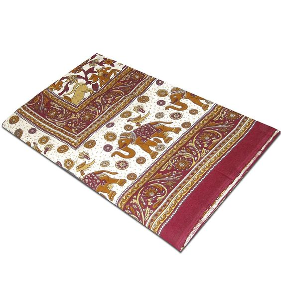 Bed Sheet Cotton Handmade Vegetable Dye Block Print for Bedroom from India