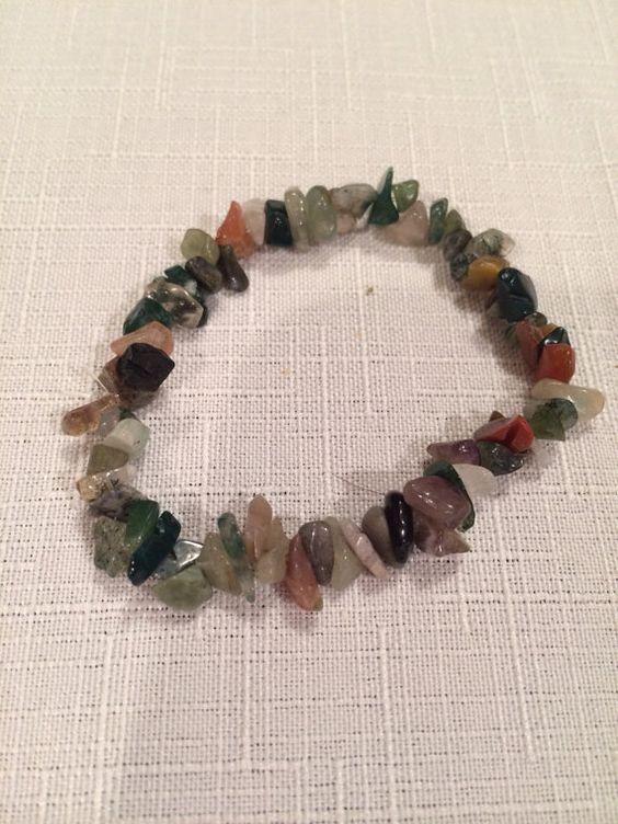 Jasper healing stone bracelet by zenbabyMama on Etsy, $8.00