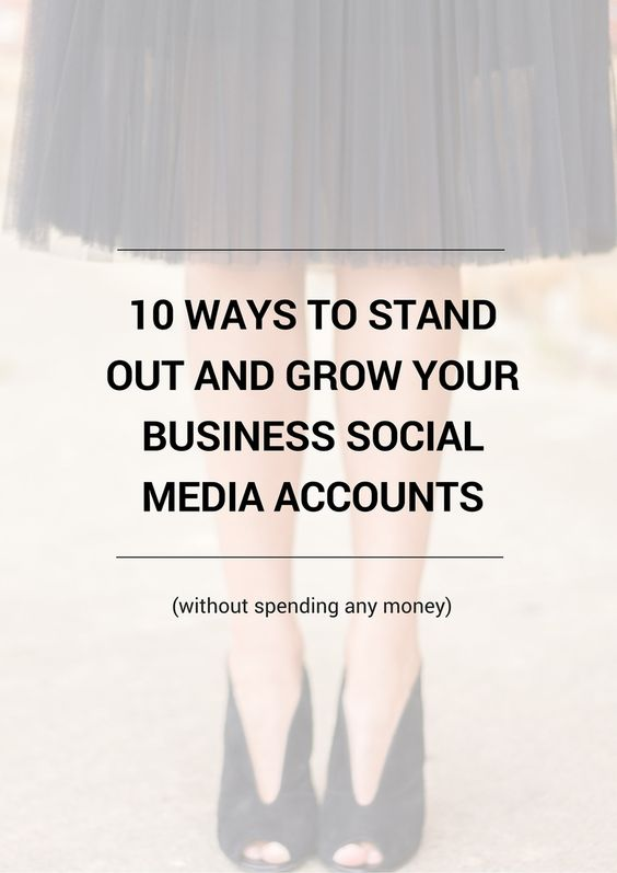 Grow your business social media accounts fast without spending any money. Here are 10 ways to do that optimally. Plus a free cheat sheet that walks you through setting up your business accounts and using them for success!
