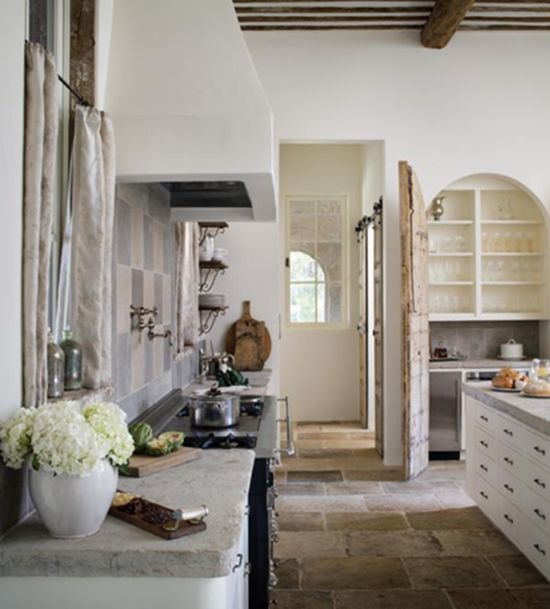 : White Kitchen, Counter Top, Country Kitchen, Rustic Kitchen