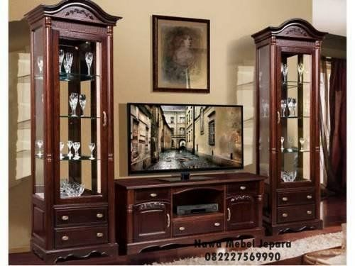 Bufet Tv Kaca Ruang Tamu Minimalis Terbaru Lemari Tv
