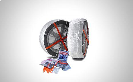 Sin miedo a la nieve con las cadenas textiles Autosock! http://www.doferta.com/juego-de-cadenas-textiles-autosock-(2-unid)-685.html