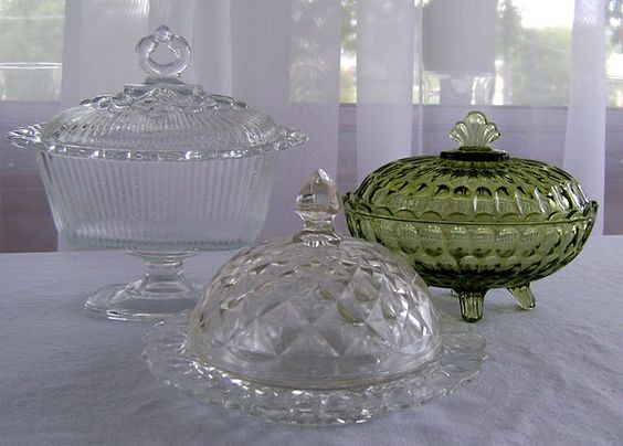 NOW I know what those cute little dishes are I inherited from my sweet MIL!   They are butter molds!  Who knew??  I feel a dinner party coming on!