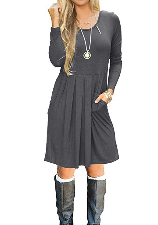 Pin On Fall Winter Dresses Women