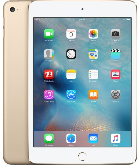 iPad mini 4 Wi-Fi 64 Go - Or | Apple Store Éducation | 485,52€