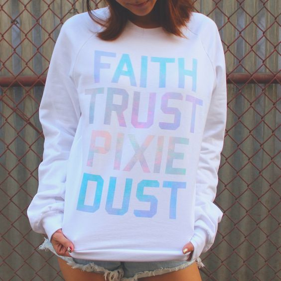 """""""All you need is a little faith, trust, and pixie dust."""" -Peter Pan I am obsessed with this top."""