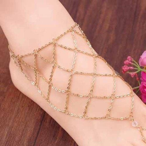 Exquisite Fishing Net Pattern Barefoot Sandal For Women     (ONE PIECE)