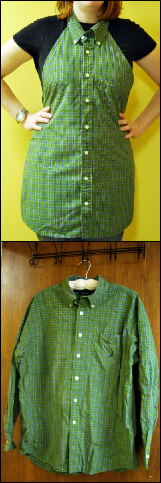 How to Make an Apron From Men's Shirt  http://craft.ideas2live4.com/2015/03/24/diy-mens-shirt-apron/  Just because you're taking on a project doesn't mean you have to ruin your clothes.  Why not make this DIY men's shirt apron!