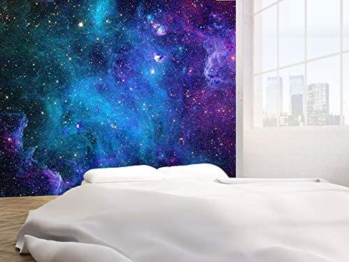How To Paint A Galaxy Wall Mural In A Spaceship Themed Playroom Bedroom Wall Paint Wall Art Wallpaper Wall Wallpaper
