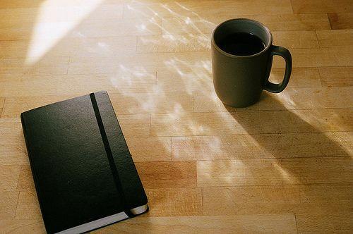 moleskine and coffee