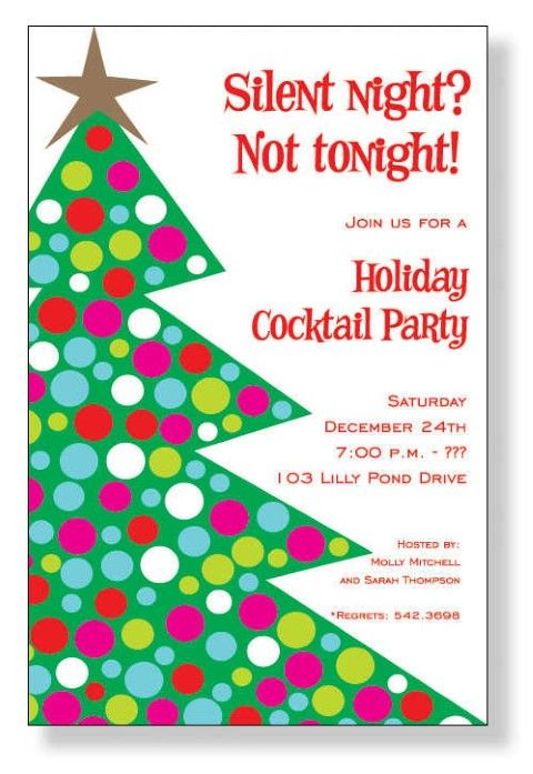 christmas party invitation wording | Homemade Christmas Party ...