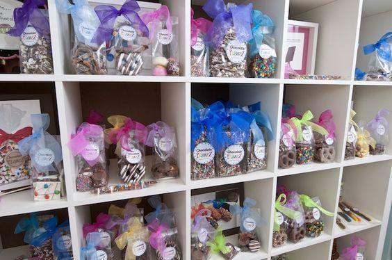 Shelves FULL of FUN treats in our Houston store. www.chocolatepizazz.com