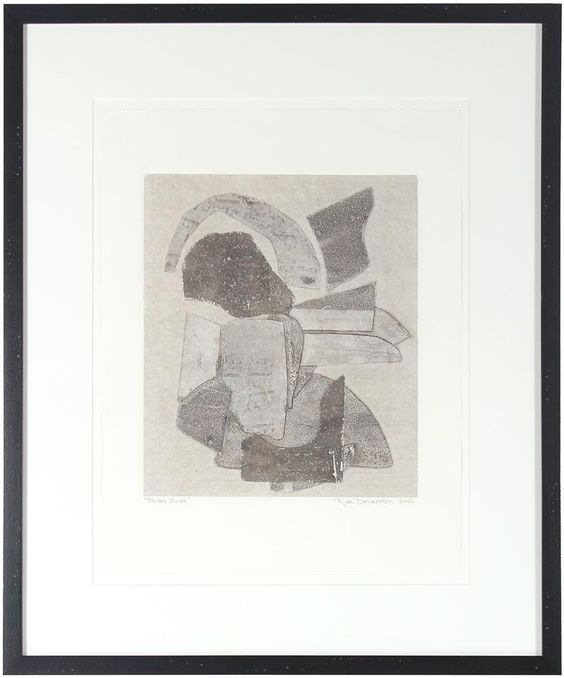 """26651- Rob Delamater, 2012, Monotype on Paper, 21.5""""x26"""" Framed, Price: $665  #abstract #monotype"""