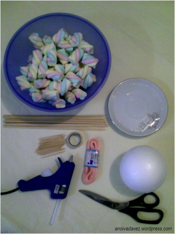 como fazer topiaria de marshmallow - Pesquisa Google