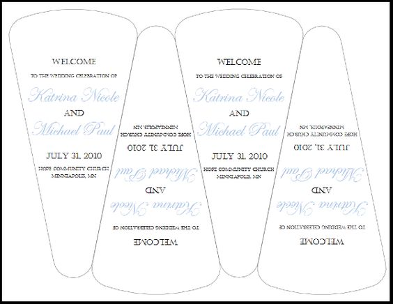 wedding fans templates free at home wedding programs diy wedding free