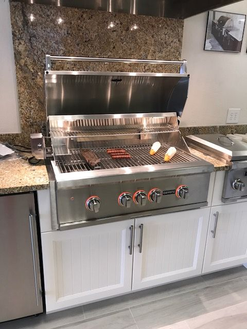 Coyote Built In Grill With Side Burner Kitchen Design Outdoor Kitchen Design Built In Grill