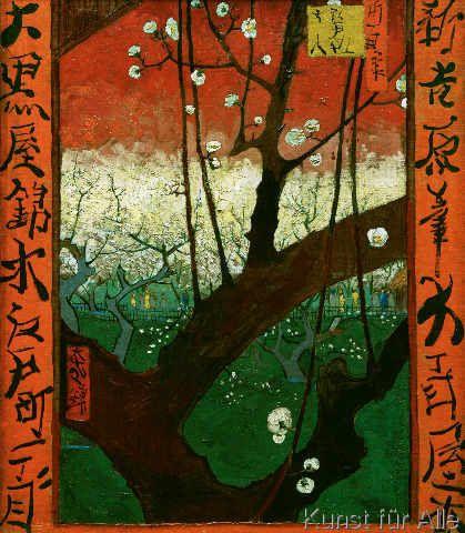 Vincent van Gogh - Blühender Pflaumenbaum
