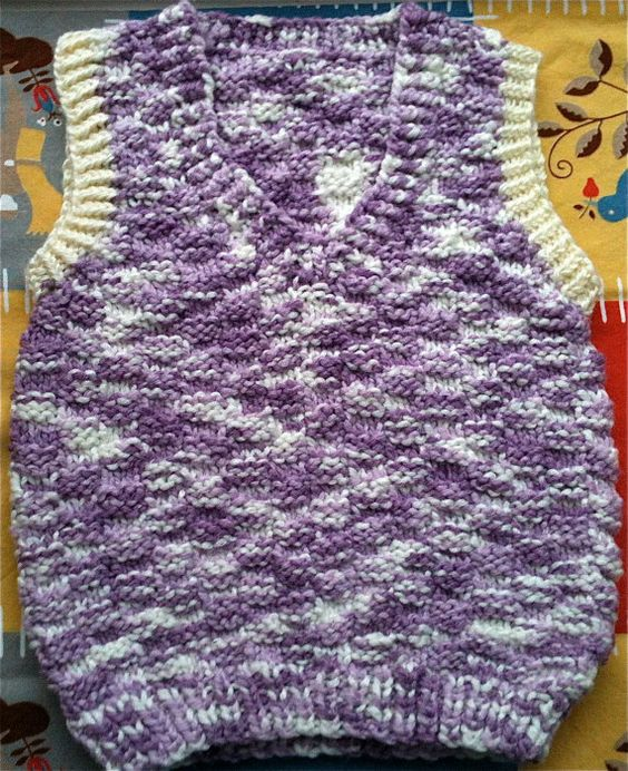 Kids Hand Knit Sweater Vest by lishyloo on Etsy, $10.00
