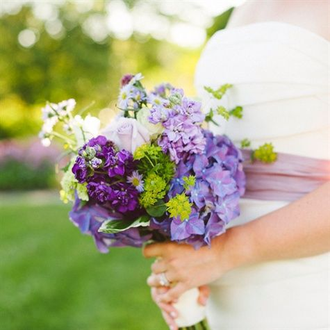Pretty purple bouquet!