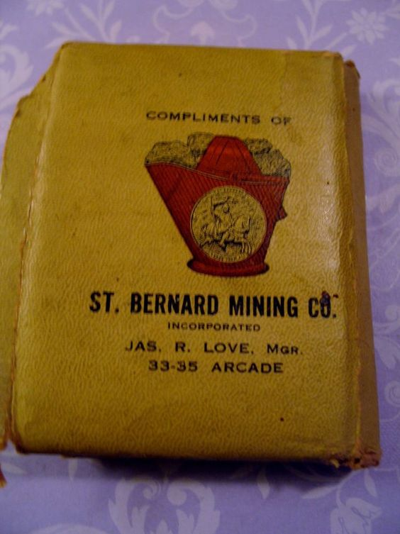 Vintage St Bernard Mining Co Kentucky Sewing Needle Book 1914 w Advertising Card
